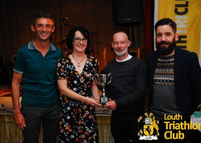 Chairmans Award. Kerry Drewery & Richard Conway.